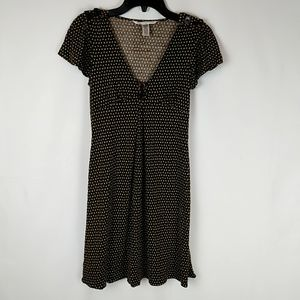 Diane Von Furstenburg Brown Print Dress Size 2 Sil